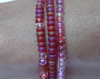 Pink & Mauve Bracelet Set