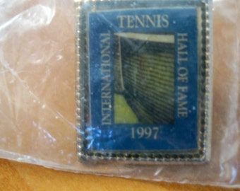 Tennis Hall of Fame 1997 Lapel Pin, Vintage Pins, Vintage Tennis, Vintage Lapel Pins, Tennis Lapel Pin, International Tennis Hall of Fame
