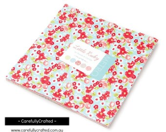 In Stock-Available Now-MODA Fabric Precuts - Layer Cake - Little Ruby - Bonnie & Camille - patchwork,quilting,craft