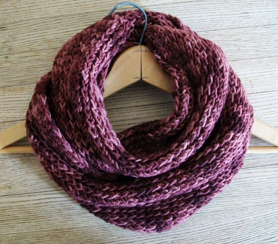 Ribbed Looped Scarf Knitting Pattern Eternity by BlueStockinette