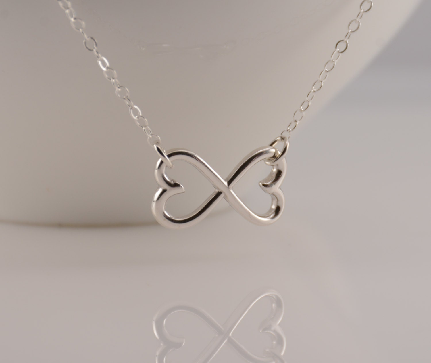 infinity heart necklace sterling silver infinity heart. Black Bedroom Furniture Sets. Home Design Ideas