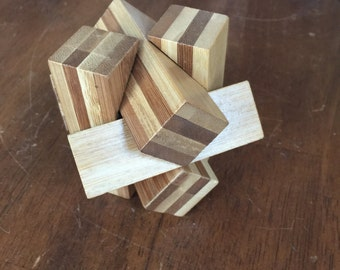 Geometric Wood Paperweight