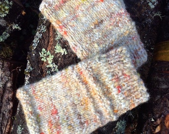 Natural Dyes. Alpaca Gloves. Fingerless. Hand Spun. Hand Knit.