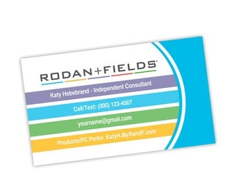 Rodan Fields Business Card Front with logo