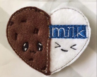 UNCUT Cookie and Milk Feltie
