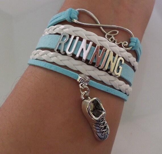 Shoe Charm Bracelet: Running Bracelet Running Shoe Pendant Charm Running