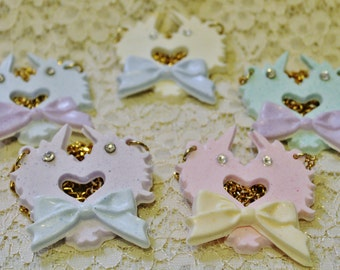 Unicorn heart necklace for Lolita and Fairy kei
