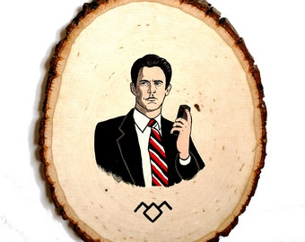 Agent Cooper Twin Peaks Wood Painting