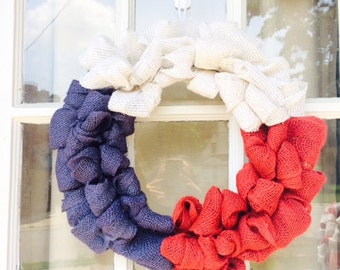 Red white and blue wreath, Patriotic Wreath, America Wreath