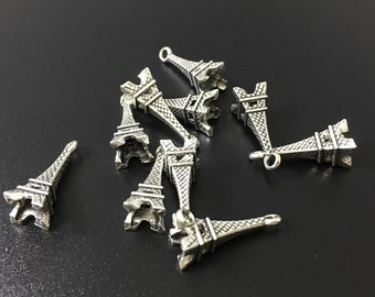 30pcs  22 mmx  8 mm Antique Silver tone Effiel Tower  Charms , Pendants  ,Finding,supplies