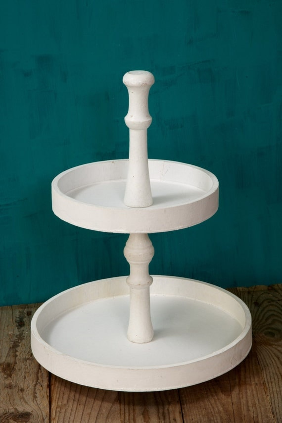 Wooden Tiered Stand ~ Wooden tray tier wood pedestal tiered stand