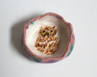 Owl ring dish