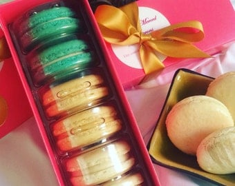 Half dozen French Macarons in Gift Box