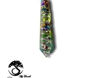 Orgonite Pendant, Orgonite ® faceted, Orgonite Necklace, Turquoise, Amethyst