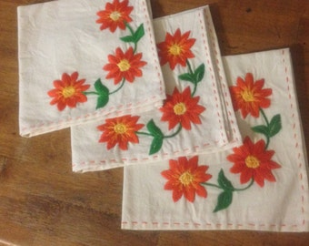 Hand Made Embroidered Napkins
