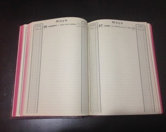 Ledger book, minute book, receipts and issues for every day. 1963. Blank
