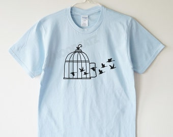 Fly Bird shirt bird cage shirt tumblr graphic gift teen tshirt women shirt men shirt women tee shirt men tee shirt women tshirt men tshirt