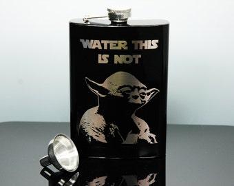 Star Wars, Flask, Yoda, Hip Flask, Darth Vader, R2D2, Storm Trooper, Empire, Imperial, Rebel Alliance, Jedi, The Force