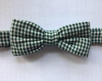 Bowtie pocketwatch green and beige