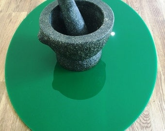 Oval Worktop Saver in  Dark Green Gloss Acrylic - 3 Sizes Available