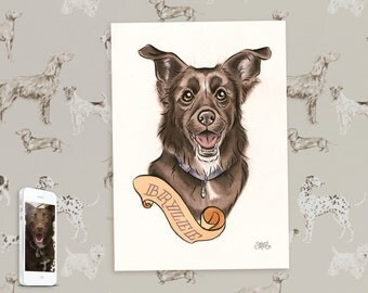 Custom Dog Painting - Bespoke Watercolour of Your Dog!
