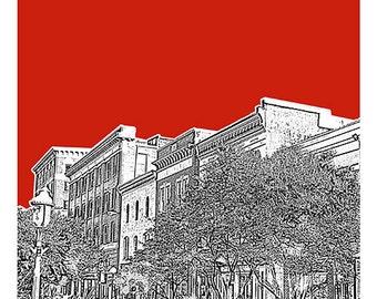 Salisbury Maryland Skyline Poster Art Print Version 2