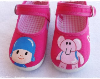Pocoyo shoes, pocoyo, pocoyo maryjane, maryjane shoes, pocoyo baby shoes