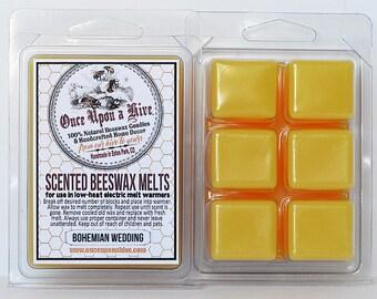 Bohemian Wedding Beeswax Melts | 3 oz. | Natural | Melt-Warmers | Wax Melts | Scented