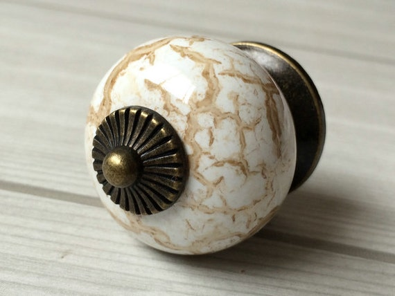 Dresser Knob Drawer Knobs Pulls Handles White Tan Ceramic Antique Bronze  Kitchen Cabinet Door Knobs / Furniture Knob Handle Pull Marble Look From ...