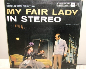 My Fair Lady In Stereo Recorded in London in 1959 Rex Harrison, Julie Andrews LP Record Album