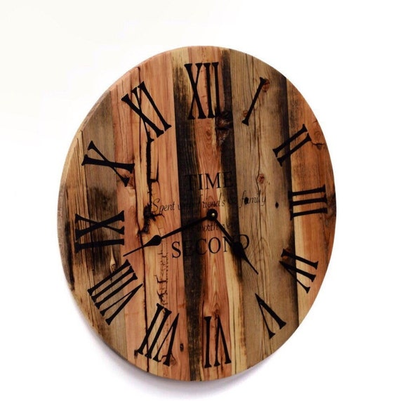Reclaimed Barn Wood Clock Rustic Wood Wall By Therusticpalette