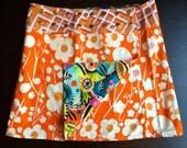 Li'l Skirts Med Long Giselle Reversible Wrap Adjustable Size 8-14 With Secret Phone Pocket
