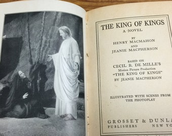 Antique Book: The King of Kings by Jeanie Macpherson and Henry MacMahon