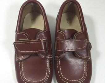 Vintage Skippers Toddler Boat Shoes - Vintage Leather Shoes - Vintage Boat Shoes - Boy's Vintage Shoes - Toddler Shoes