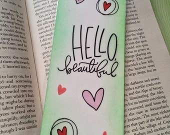 Hello Beautiful Bookmark