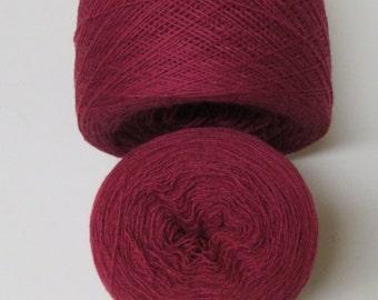 VERY BERRY 100% Merino Wool 2440 yards recycled yarn
