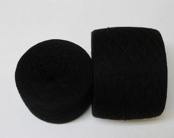 BLACK 100% Merino 3835 yards recycled yarn