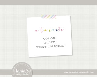A La Carte : Color Font or Text Change