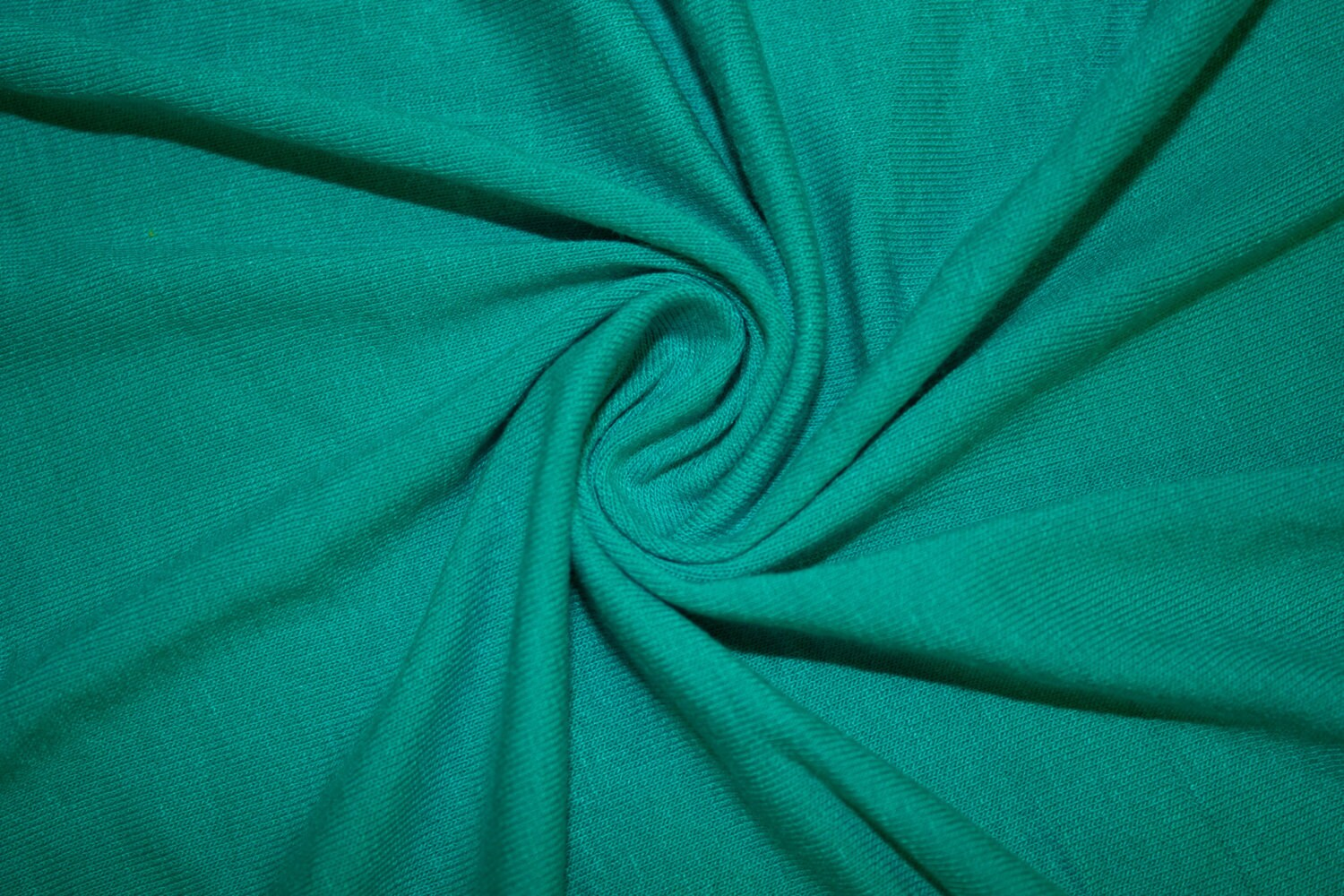 Teal 190 gsm jersey knit 95 viscose rayon 5 spandex lycra for Spandex fabric