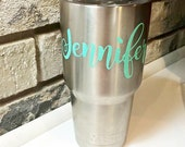 Custom Yeti Name Decal- Choose Your Size/Color - Ships Free w/ another Item - Perfect for Car, Cooler, Laptop, MacBook!