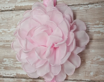 Light pink flowers headband
