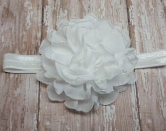 White flowers headband