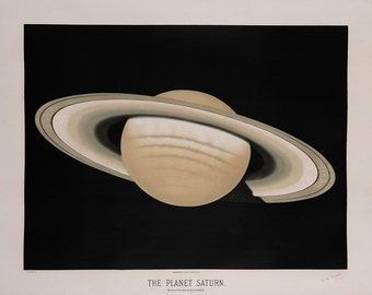 """Etienne Leopold Trouvelot : """"The Planet Saturn"""" (The Trouvelot Astronomical Drawings, 1882) - Giclee Fine Art Print"""