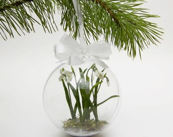 Christmas Decor, Christmas tree decorations,  Christmas, Decoration, Snowdrop, Home decor, Holidays, Gift, Christmas Ornament