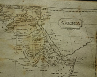 1812 AFRICA antique map of Africa - original old map about African continent vintage maps - old look alte karte Afrika vieille carte Afrique