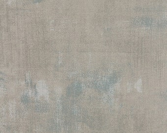 Moda Grunge Basics Gris Grey Gray Mottled Background Fabric 30150-278 BTY