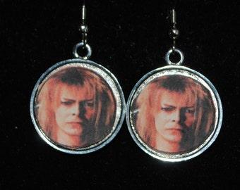 David Bowie Goblin King Earrings