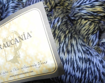 Araucania 100% Cotton Yarn 230Yds 100gr Elqui Multy Color 1100, Lavender/Blue, Yellow & Black
