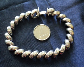 "NEW LISTING Milor 8mm San Marco Chain 15.7g Sterling Silver Bracelet (7"") (1704)"