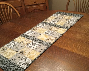 Quilted Table Runner, table runner, quilted patchwork runner, patchwork runner, quilted runner, quilted runners, modern table runner